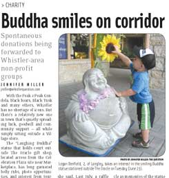 Buddha smiles on Corridor